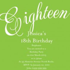 33 best 18th birthday invitations inspirations images on pinterest jubilee square w magnet in lime invitation invitation wordingunique invitationsinvitation cardsbirthday invitations18th filmwisefo