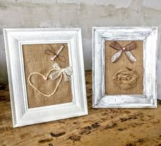 Pair of 2 framed burlap hanging inspired from the nature.A beautiful heart and a dragonfly from fresh water pearls Homemade Chalk Paint, Framed Burlap, Burlap Roses, Chalk Paint Colors, Mdf Wood, Handmade Items, Handmade Gifts, Shabby Chic Style, Nursery Room