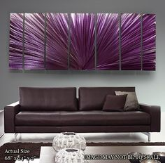 Modern Abstract Painted Metal Wall Artwork by statements2000
