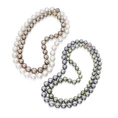 PROPERTY OF AN AMERICAN FAMILY Four Cultured Pearl Necklaces Estimate  15,000 — 20,000  USD  LOT SOLD. 20,000 USD