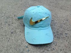 Sky Golden Check Dad Cap