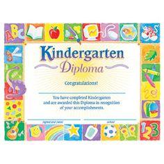 Kindergarten  PreK DiplomaCertificate Templates  Autism