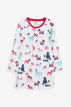 Hatley Colorful Pups Long Sleeve Nightdress Finland, Soft Fabrics, Pup, Floral Tops, Colorful, Long Sleeve, Sleeves, Stuff To Buy, Shopping