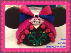 Custom Anna Mickey Ear Hat by Happily Ever Hatter! Inspired by Disney and Frozen!