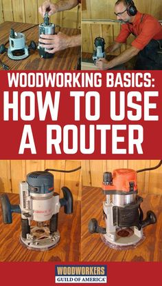 A router is an incredibly versatile machine. But if you've never used one, routers can be intimidating. This article provides advice on how to use a router along with tips to help you get started Used Woodworking Tools, Woodworking Basics, Woodworking Joints, Woodworking Techniques, Popular Woodworking, Woodworking Crafts, Woodworking Furniture, Custom Woodworking, Woodworking Quotes