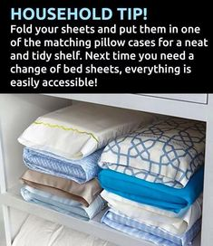 Organized Living in Small Spaces: Linen Closet Time Saver #BedTime