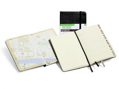 "Moleskine's City Notebooks are fun and useful takes on the classic black leather journals. As you'd expect, they're filled with blank pages to record your itinerary, but they also include city and transportation maps, street indexes, an ""address book"" to log your favorite finds, and adhesive tracing paper so you can document your routes on the maps. Available in 40+ city styles, $17.95 each, moleskine.com"