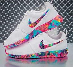 shoes nike rose roshe runs colorful multicolor white nike shoes nike running shoes nike roshe run nike roche pink purple blue neon neon pink neon blue white shoes yellow white sneakers low top sneakers white roshe nike sneakers Nike Free Shoes, Nike Shoes Outlet, Running Shoes Nike, Nike Shoes For Girls, Running Sports, Hiking Shoes, Nike Roshe Run, Nike Shox, Nike Flyknit