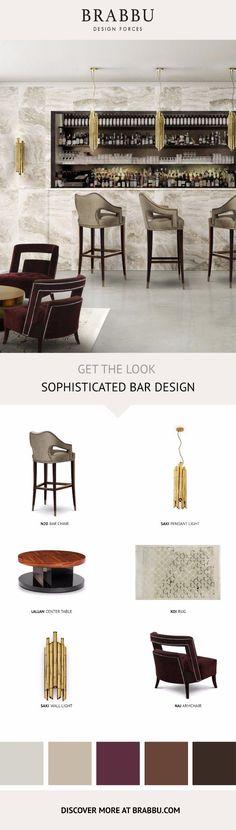 10 Fantastic Mood Boards To Inspire A Home Decor Makeover   Interior Design Inspiration. Bar Design. #interiordesign #homedecor #bardesign Read more: https://www.brabbu.com/en/inspiration-and-ideas/interior-design/fantastic-mood-boards-inspire-home-decor-makeover