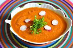 Soupe glacée de tomates et poivrons