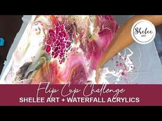 Shelee Art - Flip Cup Challenge with Waterfall Acrylics Acrylic Pouring Art, Challenge Accepted, Challenge Cup, Acrylic Painting Techniques, Fluid Acrylics, Pour Painting, Diy Design, Art Projects, Waterfall