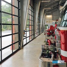 Who said commercial garage doors weren't beautiful? These full view glass and aluminum doors by Clopay are not only beautiful but functional too! BankoDoors.com #BankontheBest #BankoDoors #garagedoor #garagedoors #firemen #firehouse #commercialdoor #overheaddoor #glass Glass And Aluminium, Aluminium Doors, Commercial Garage Doors, Firemen, Modern, Beautiful, Design, Aluminum Gates, Firefighters