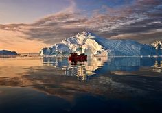 Icebergs of South Greenland  They are present throughout Greenland's waters, but the areas around Ilulissat and Uummannaq are particularly well-known as the source of many large icebergs that break off the glaciers in the deep fjords.