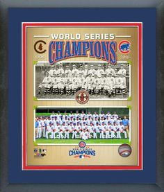 The Chicago Cubs 1908 & 2016 World Series Champions Composite-11x14 Framed Photo