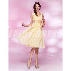 Femme robe de cocktail daffondil col en v en mousseline Modèle: PHBG1259  Disponibilité : En stock €70,48