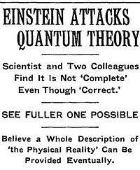 Quantum entanglement - Wikipedia, the free encyclopedia