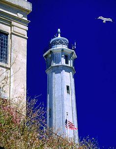 *Alcatraz Lighthouse - San Francisco Bay, California
