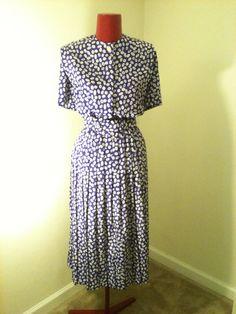 Vintage Designer Purple Polk a Dot dress by DIYstylist on Etsy, $25.99
