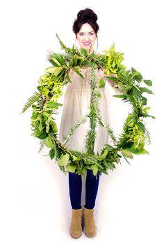 alisaburke: peace wreath