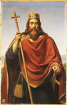 Clovis I (c. 466 – 511), the first King of the Franks to unite all the Frankish tribes under one ruler. 47th great-grandfather. Interred at Saint Denis Basilica.