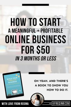 A series on how to start a business in 3 months for only $50 that makes a profit and feels awesome. Tips, tools, and more for getting started in business.