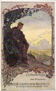 Der wanderer D. 493. Schubert.  El caminante de Schubert pregunta donde se encuentra su felicidad y el viento le responde que allí donde no estés.    http://youtu.be/BR8_n-B8qu0