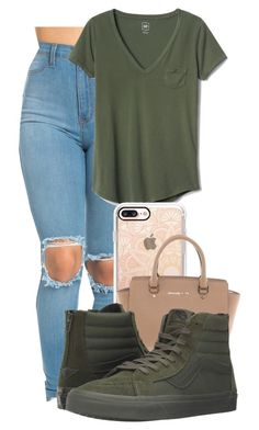 """""""Green, Green, Green"""" by ksweet065 ❤ liked on Polyvore featuring Gap, Casetify, Michael Kors and Vans"""