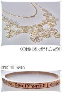 Colar Delicate Flowers / Bracelete Dreams