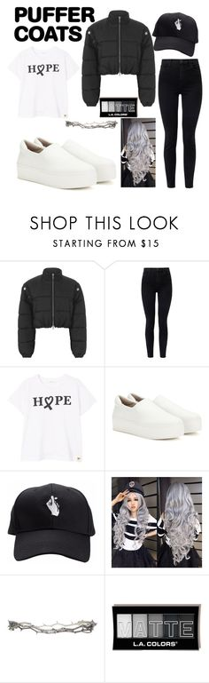 """🔥 puffer coat 🔥"" by emeline-pors ❤ liked on Polyvore featuring 3.1 Phillip Lim, J Brand, MANGO, Opening Ceremony and Pearls Before Swine"
