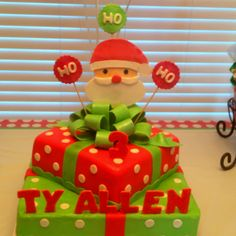 Christmas Birthday Cake!