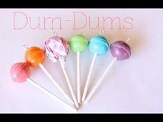 Dum-Dums Popsicles Tutorial for Fimo or Polymer Clay