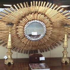 Sunburst Mirror - Stunning Oval Shape