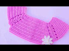 Crochet Lovely Top For Baby - Crochet Ideas Crochet Girls Dress Pattern, Crochet Yoke, Crochet Baby Cardigan, Baby Dress Patterns, Baby Afghan Crochet, Crochet Dishcloths, Easy Crochet, Crochet Stitches, Crochet Bikini