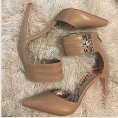 SALE Brand New Sam Edelman Nude Heels size 6.5 Super HOT Sam Edelman Nude Pumps with studded ankle straps and back zipper, silver hardware. Size 6.5 These are BRAND NEW never worn! Hot item, don't miss out 🔥❣️Feel free to ask questions and make offers on my listings! Bundle 2 or more items in my closet for 15% discount! Thanks ❣️ Happy Poshing! Sam Edelman Shoes Heels