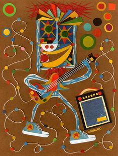 A exposição com colagens originais do artista Adriano Catenzaro que utiliza a técnica da colagem manual de recortes de papéis.