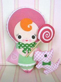 Cute Craft Tutorials, Handmade Toys, Printable Crafts, Kawaii Plush by Fantastic Toys: Baby Bunka Printed Cloth Doll Tutorial