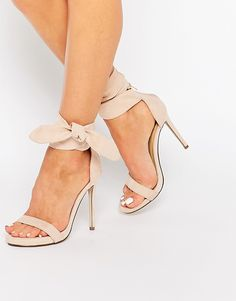 Missguided Knot Barely There Heeled Sandals - Asos