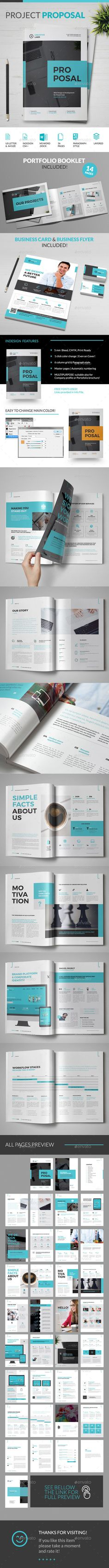 Proposal — InDesign Template #stylish #sample proposal • Download ➝ https://graphicriver.net/item/proposal/18540145?ref=pxcr