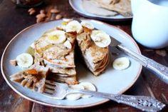 Almond Butter Buckwheat Pancakes. Gluten free and dairy free. Recipe on www.thelittlegreenspoon.com
