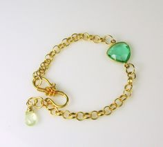 MiShelli Designs - Green Rock Quartz Crystal Bezel Gold Filled Bracelet, $55.00 (http://www.mishellidesignsjewelry.com/green-rock-quartz-crystal-bezel-gold-filled-bracelet/)