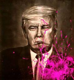 """Saatchi Art Artist Lee Marten; Printmaking, """"Pink for Freedom"""" #art"""