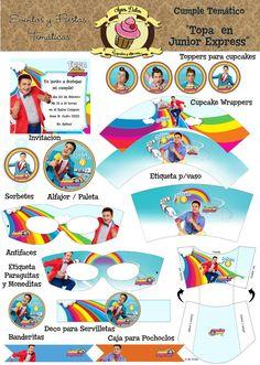 accesorios de fiesta de cumpleaños con motivos de topá junior exprees - Buscar con Google Junior Express, Beach Mat, Disney Characters, Fictional Characters, Outdoor Blanket, Birthday, Google, Amelia, Party Ideas