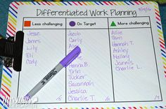Differentiated Learning Centers! Don't panic! I have come up with ways to offer…