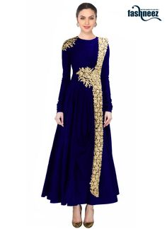 Make the heads turn whenever you costume up with this stunning navy blue net and…