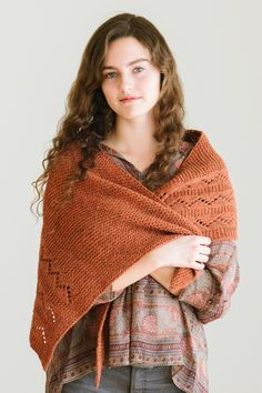 marika shawl by noriko ho for scarves, etc. 5 / in quince & co. owl