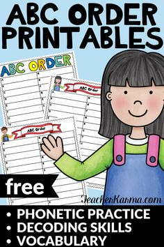 Free alphabetizing resources for students. Classroom Freebies, 2nd Grade Classroom, Special Education Classroom, Free Teaching Resources, Teacher Resources, Teaching Ideas, Student Teaching, Word Work Activities, Writing Activities