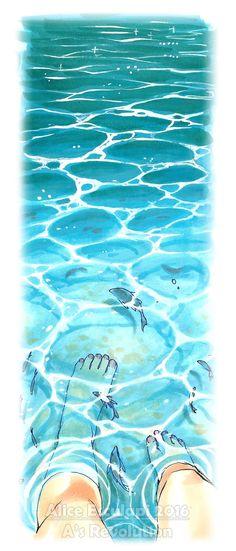 Oggi la seconda parte dell'argomento acqua.   In realtà ci sarebbero un sacco di cose da dire su come rendere le superfici bagnate, le ...