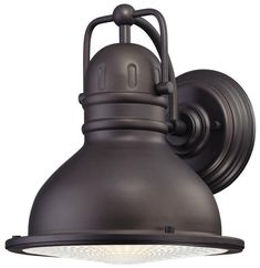 Orson LED Outdoor Large Wall Lantern, Oil Rubbed Bronze Finish on Steel with Clear Prismatic Lens - Lighting Getz