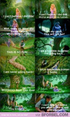 Rapunzel Demonstrates PMS #disney #tangled