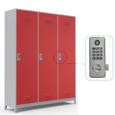 Üç Kapılı, Şifreli, Çelik Soyunma Dolabı   Güvenli ve Konforlu Soyunma Dolapları Lockers, Locker Storage, Cabinet, Furniture, Home Decor, Clothes Stand, Closet, Closets, Interior Design